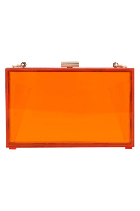Mettle Fair Trade Lucite Clutch Orange