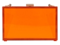 Mettle Fair Trade Lucite Clutch Orange