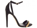River Island Black Chain Barely There Sandal