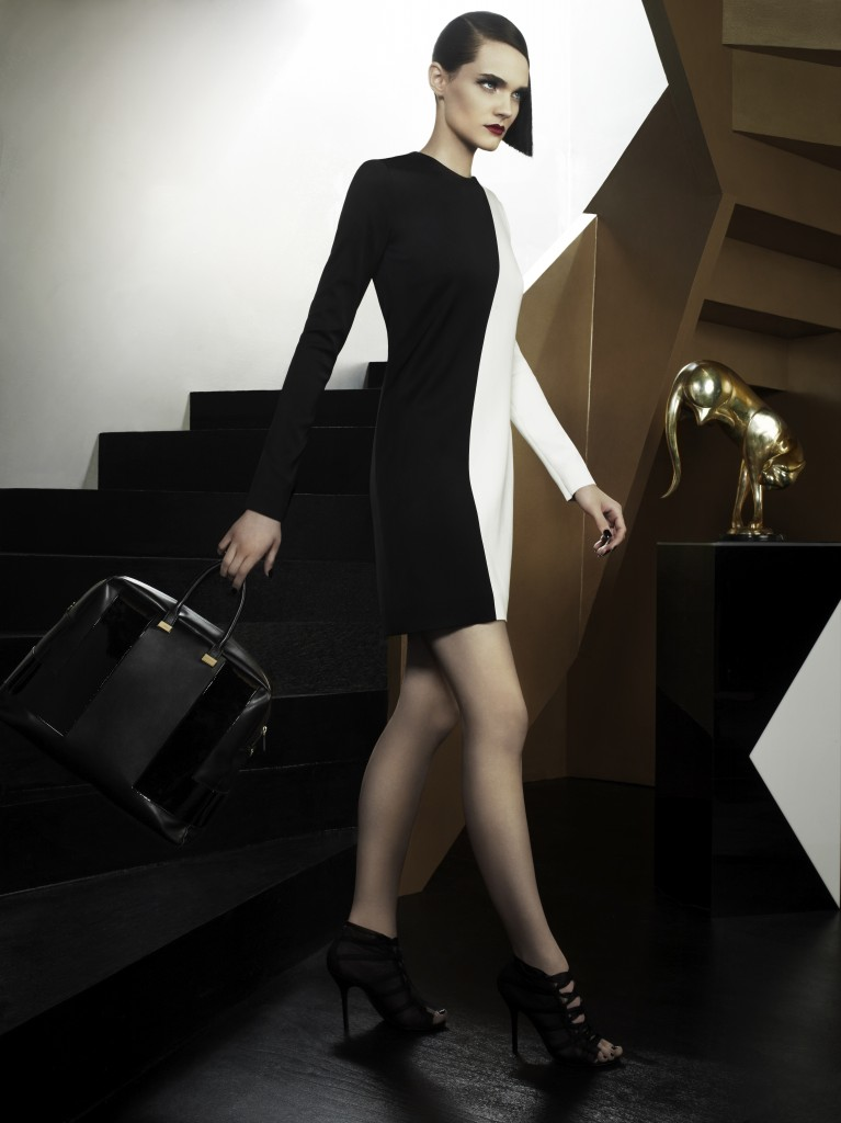 05012BLK0 SoHo Day Bag medium black patent black faux leather LB1