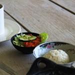 Rice veggie and chocolate