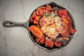 Christmas Dinner: Chestnut Cassoulet with Orange and Rosemary Crumb