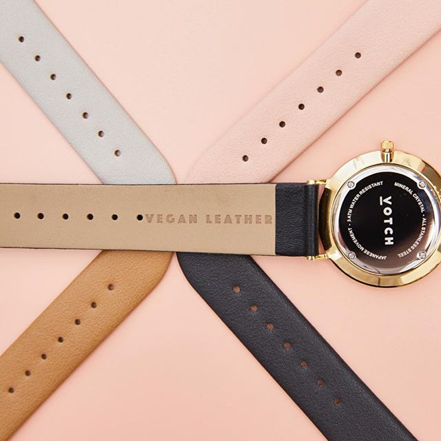Votch watches are made with high quality vegan leather straps and come in five color options.
