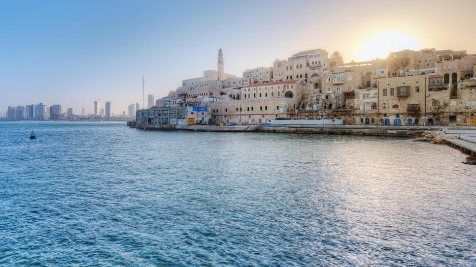 The Israeli coastal port of Jaffa is just outside Tel Aviv, a marriage of old and new.