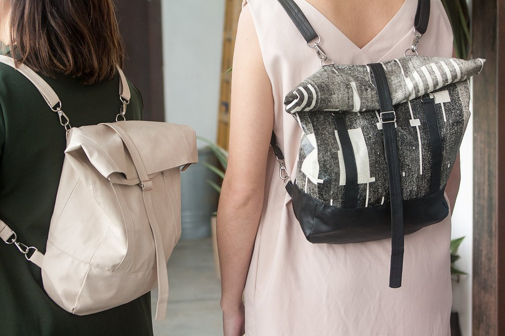 Lee Coren's roll top backpacks are some of her favorite items.