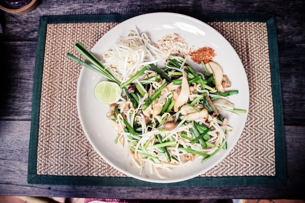 Vegan pad thai at Reform Kafe in Chiang Mai.