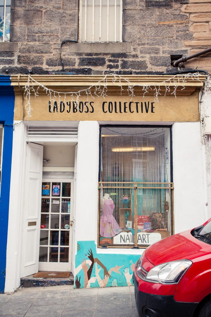 Shop front of Ladyboss Collective in Edinburgh.
